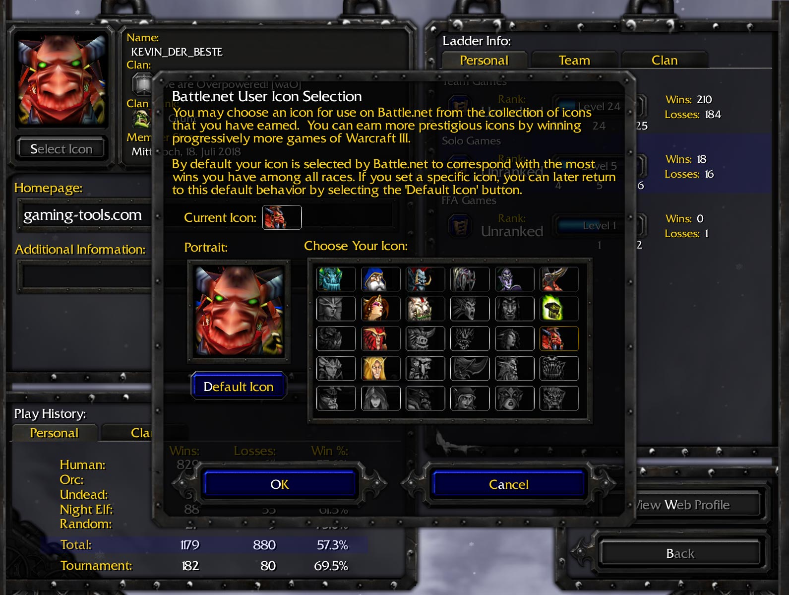 Warcraft 3 Profile Icons