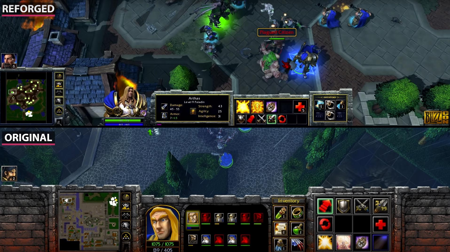 Warcraft 3 And Warcraft 3 Reforged Comparison Units Heroes