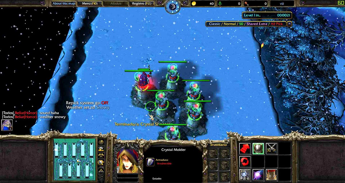 Screenshot of the Tower Defense Wintermaul One