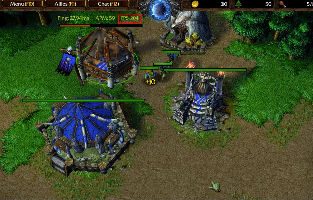 Warcraft 3 with 200 FPS