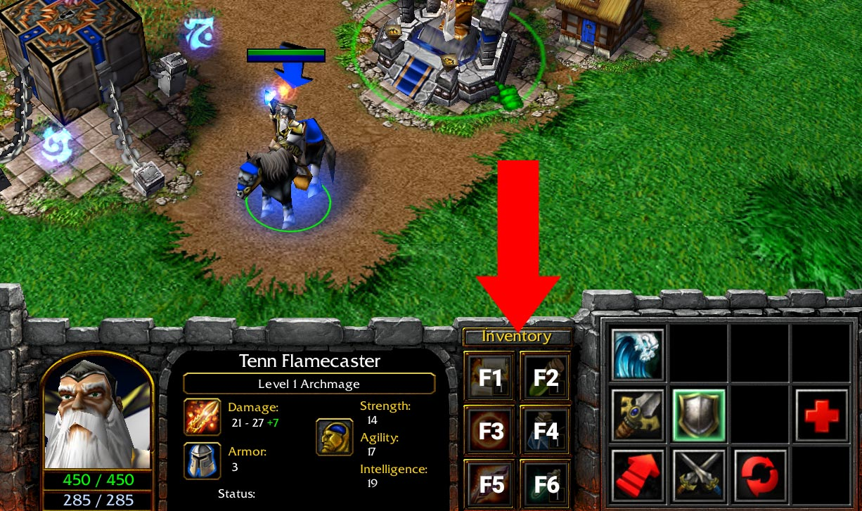 Warcraft 3 Item Hotkeys