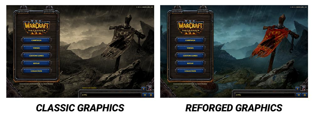 Warcraft 3 Classic and Reforged Menu