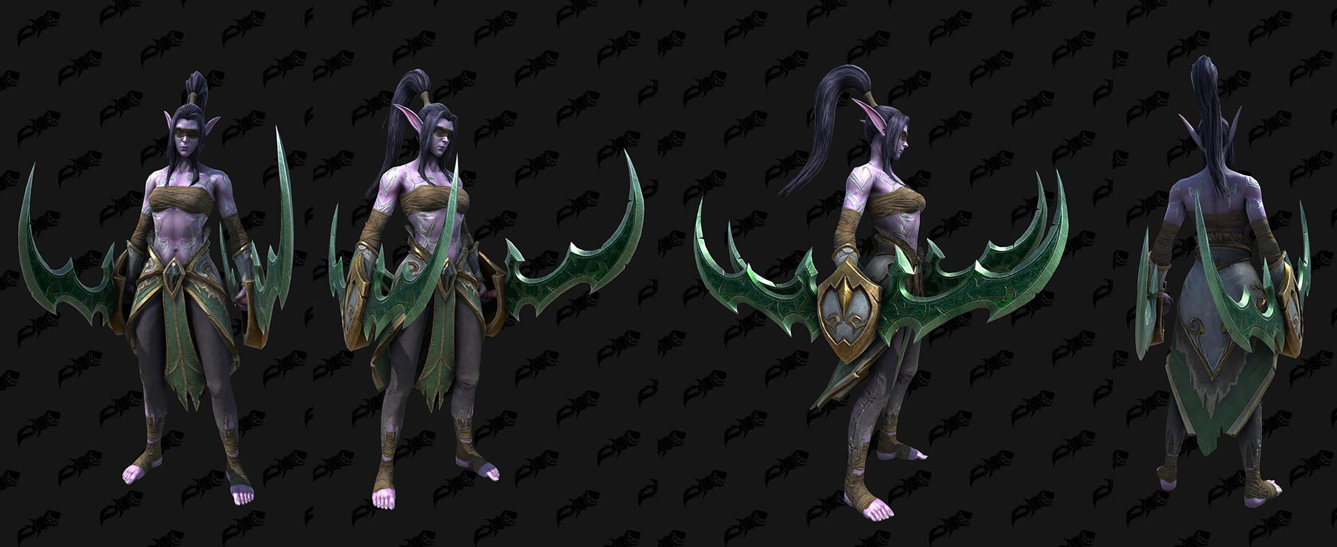 WC3 Reforged Female Demon Hunter Skin 3D