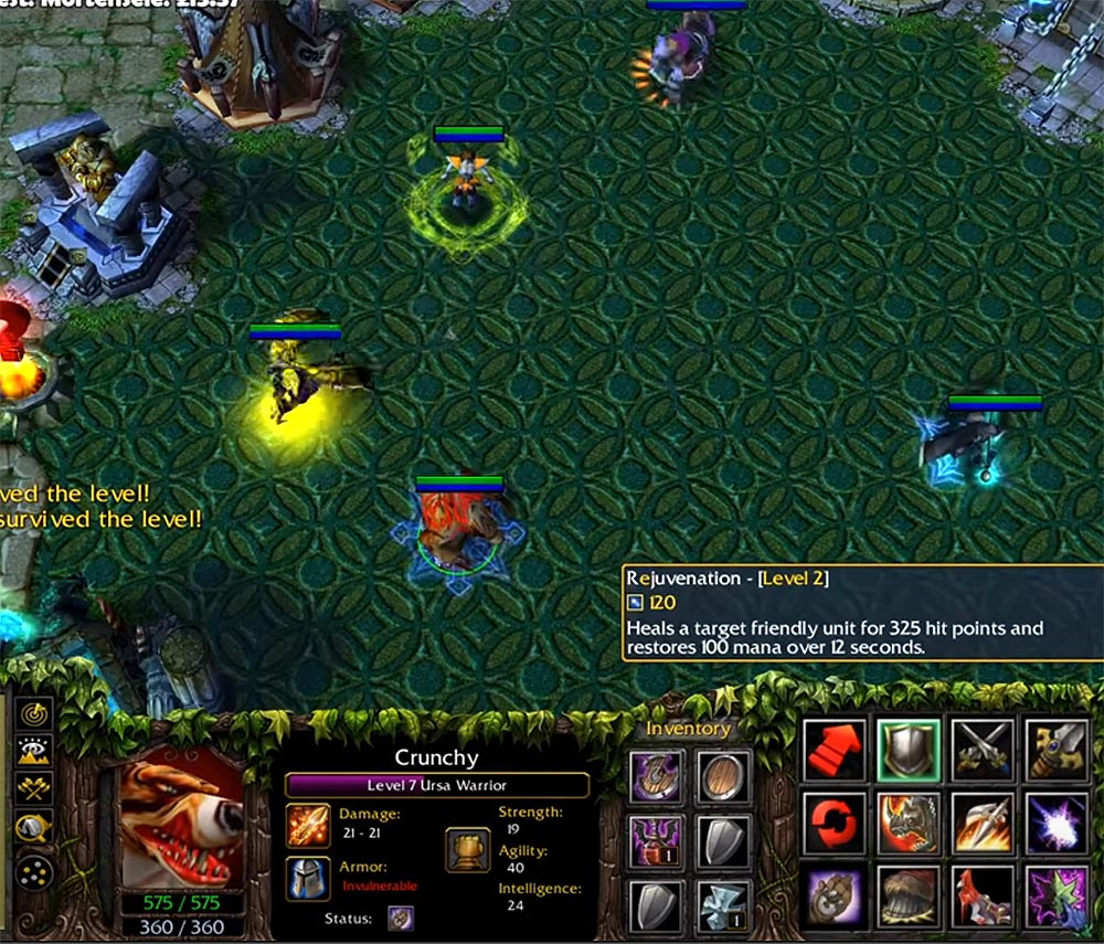 Custom Hero Survival Warcraft 3 Screenshot