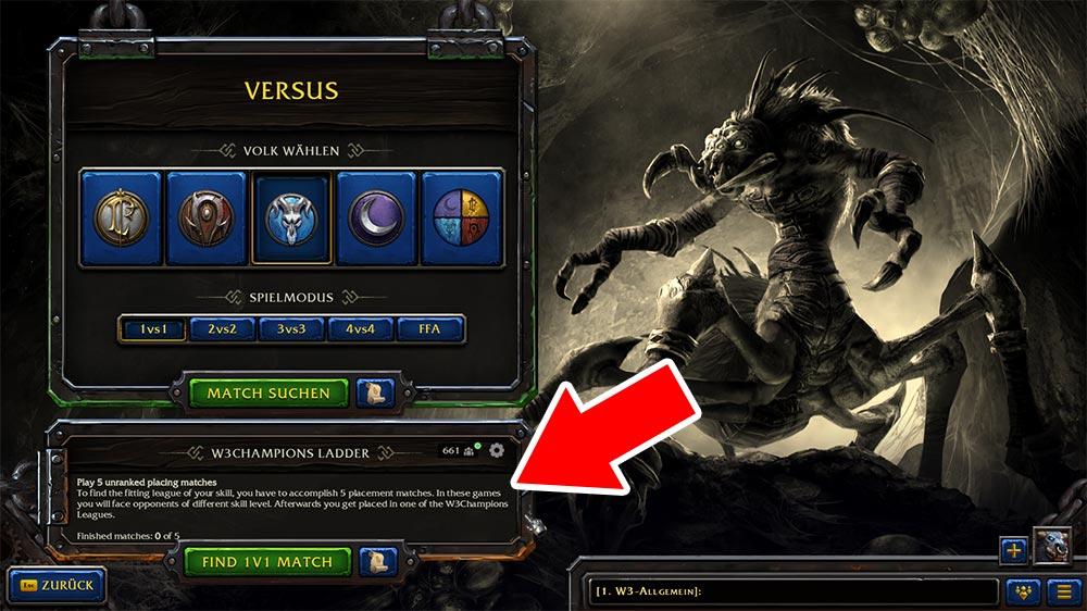 Warcraft 3 W3Champions Ladder Match