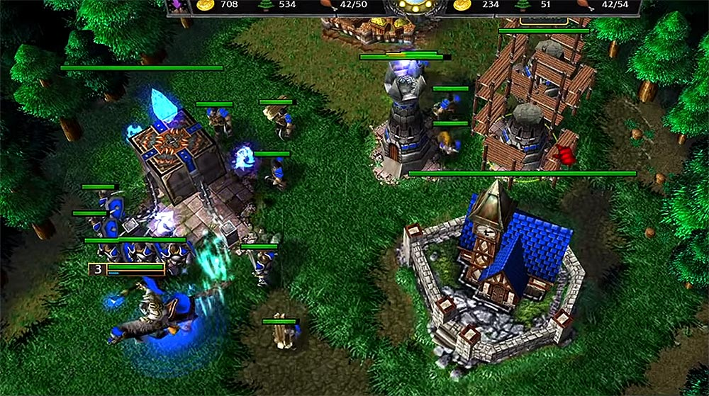 Warcraft 3 Expansion Towers with Human