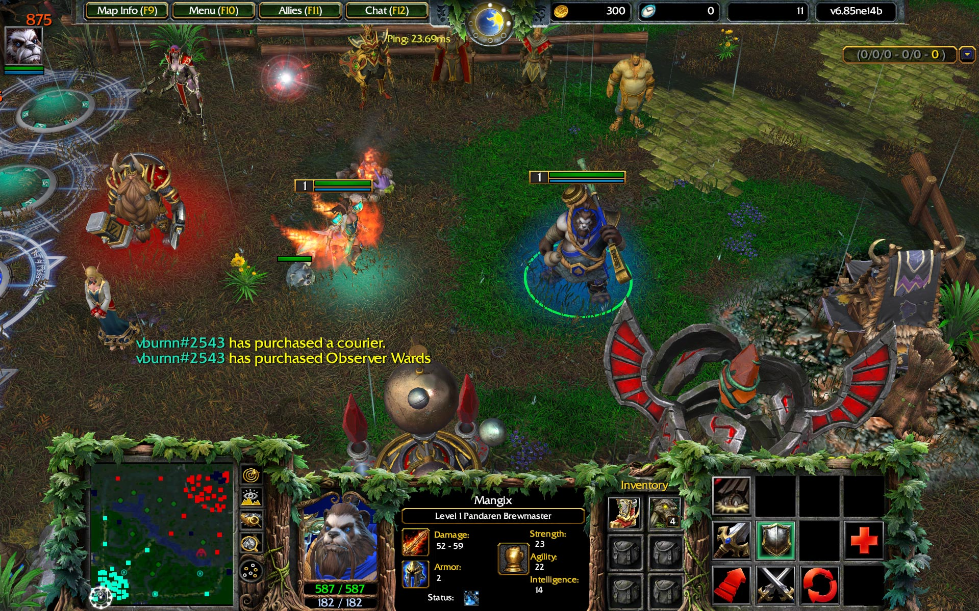 Wracraft 3 Reforged Dota Screenshot