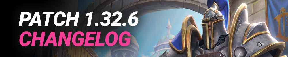 Changelog of Warcraft 3 Reforged Patch 1.32.6