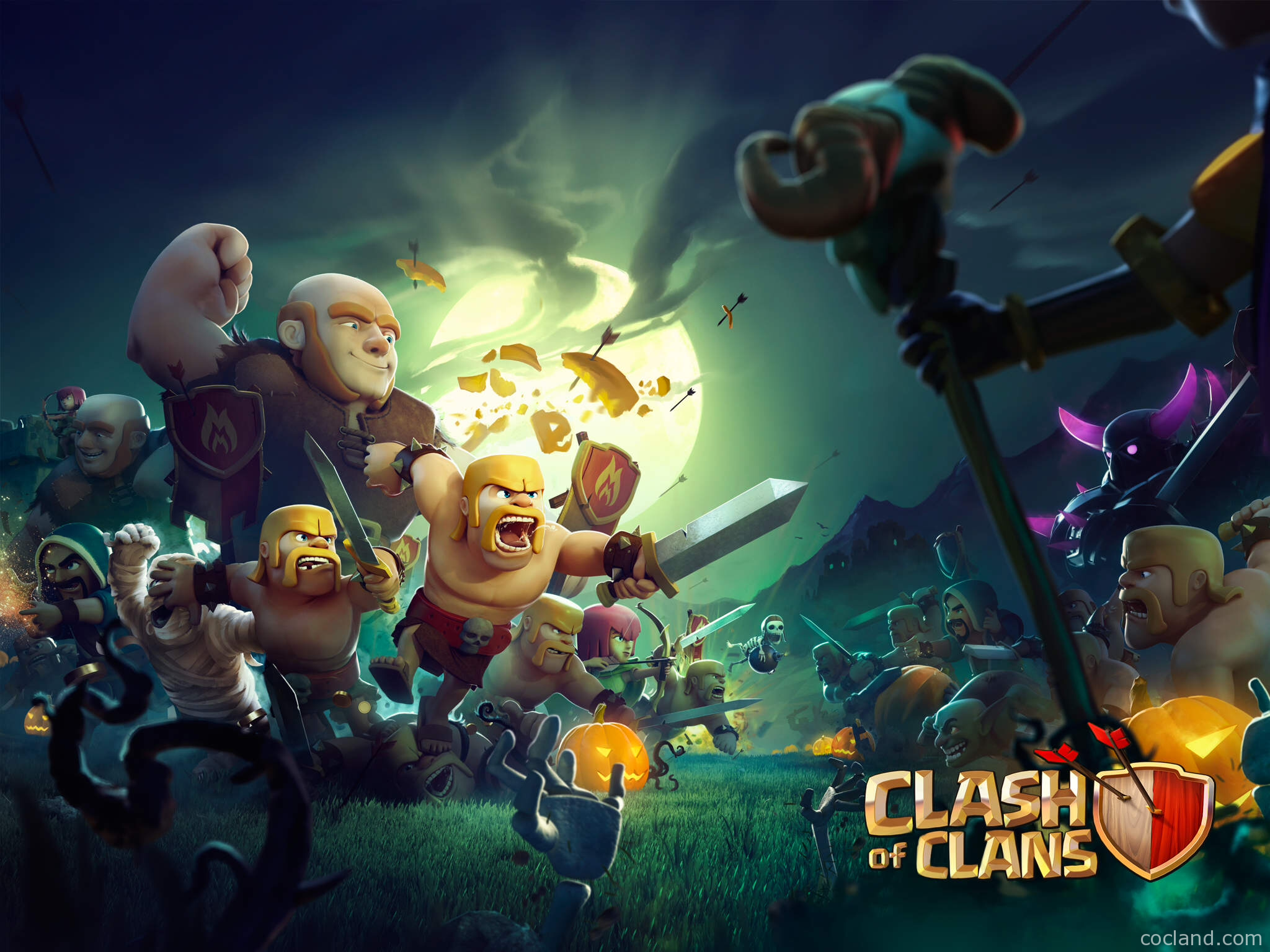 clash of clans wallpaper heroes units city wallpaper and