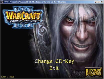 Warcraft 3 CD Key Changer The Frozen Throne