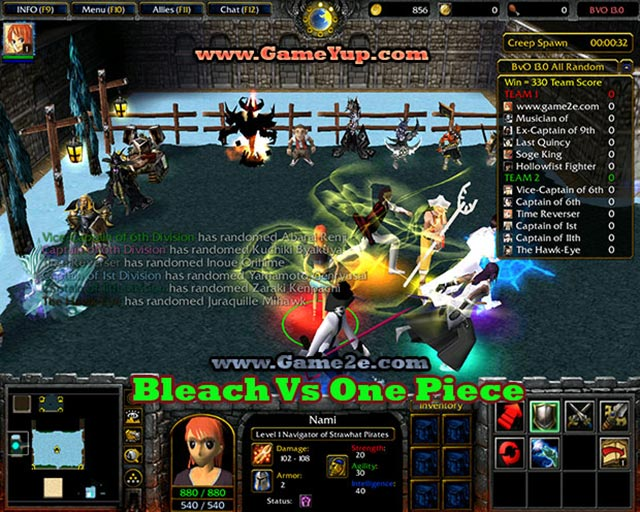 Bleach vs One Piece Warcraft 3 Map