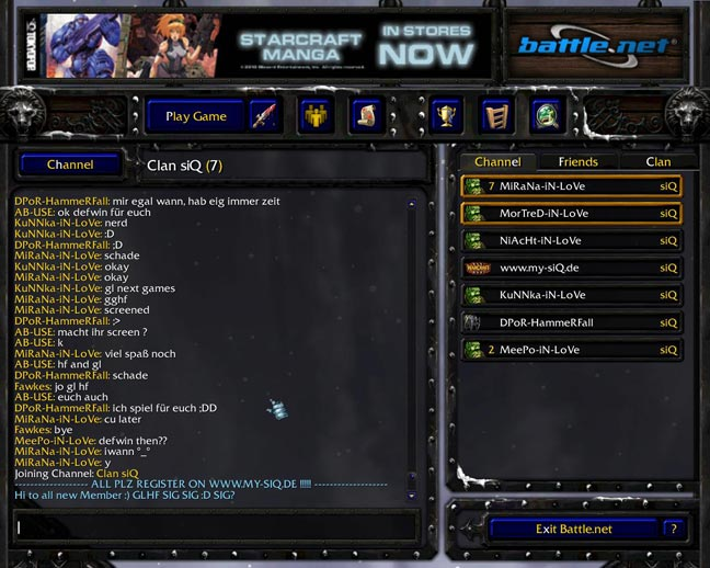 Warcraft 3 Clan Chat