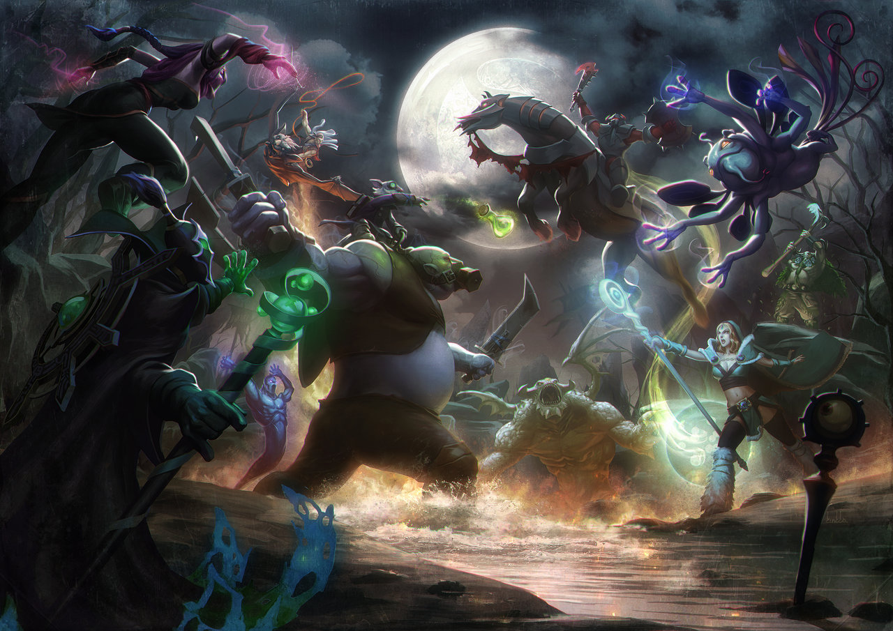 dota-collage-fight-in-the-night