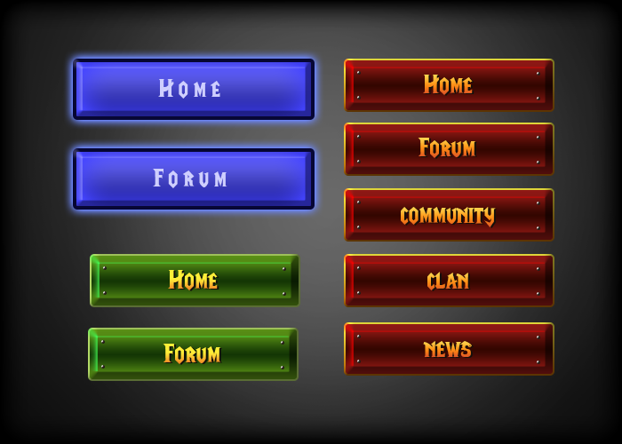 Warcraft 3 Button and Borders Design