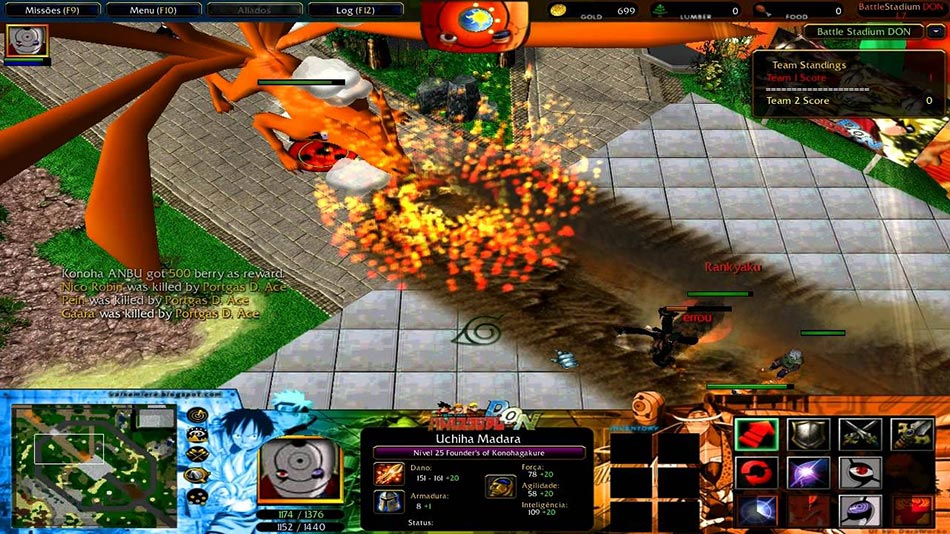 Warcraft 3 Naruto Dragon