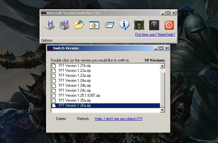 Warcraft 3 Patches Version Switcher