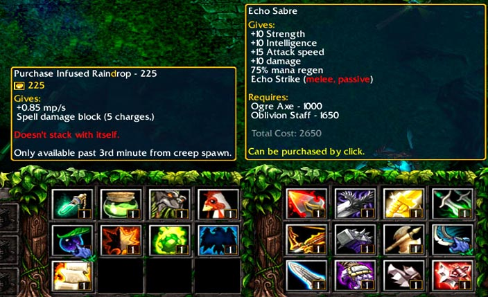 Dota 6.88v3 RGC Screenshot Items
