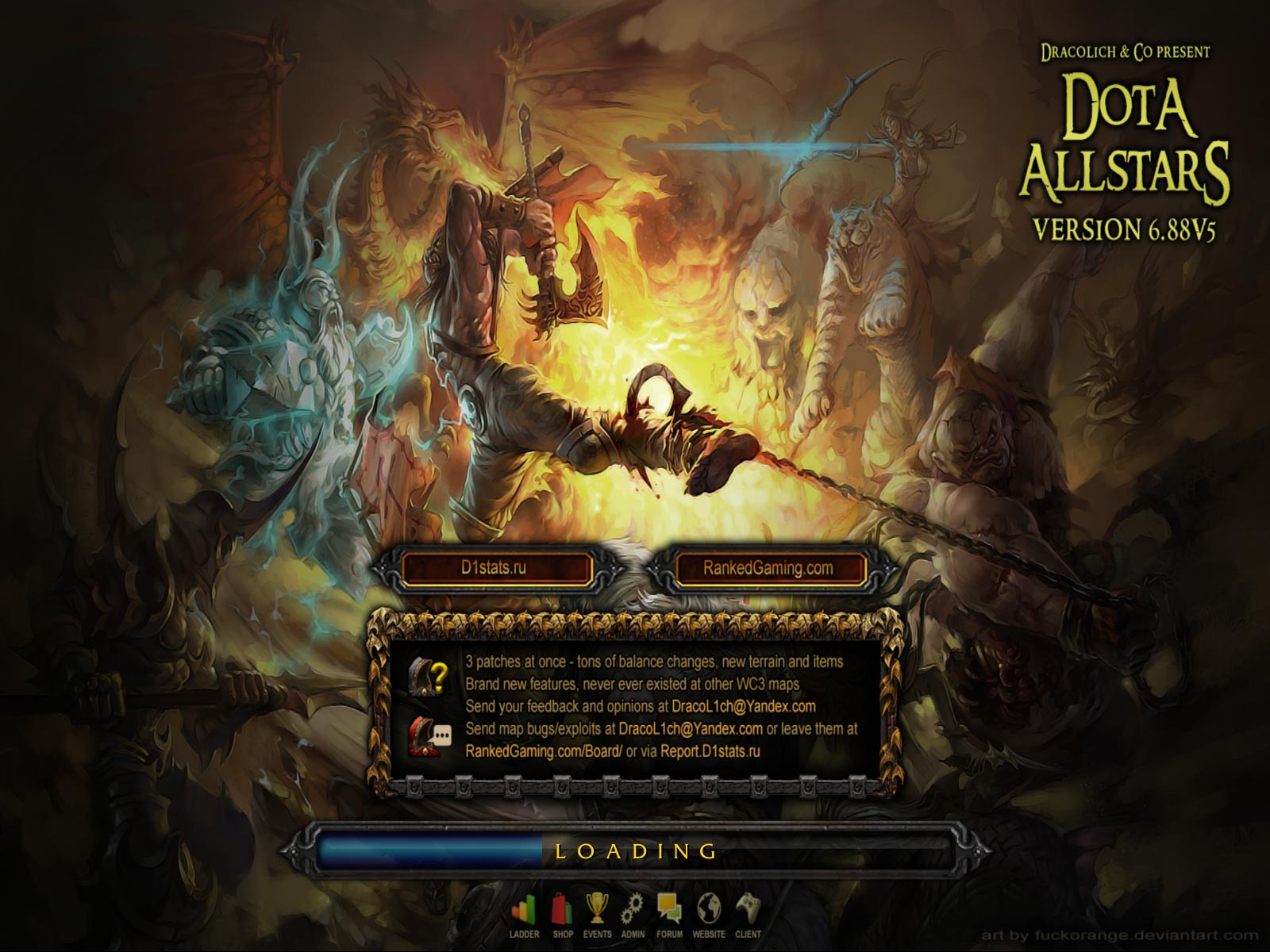 Dota Allstars 6.88v5 RGC Loading Screen