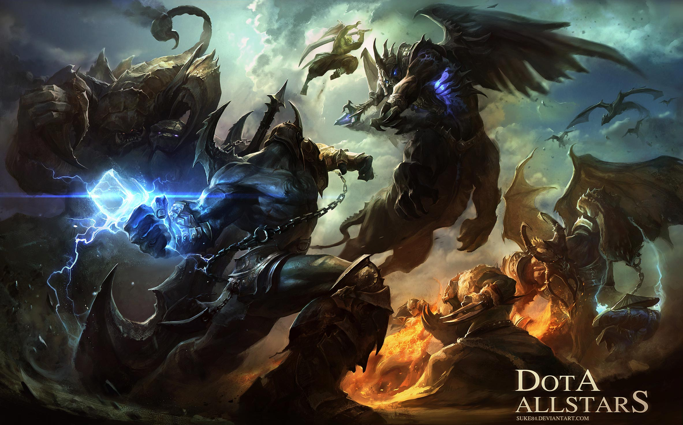 Dota 6.83d Ai artwork wallpaper