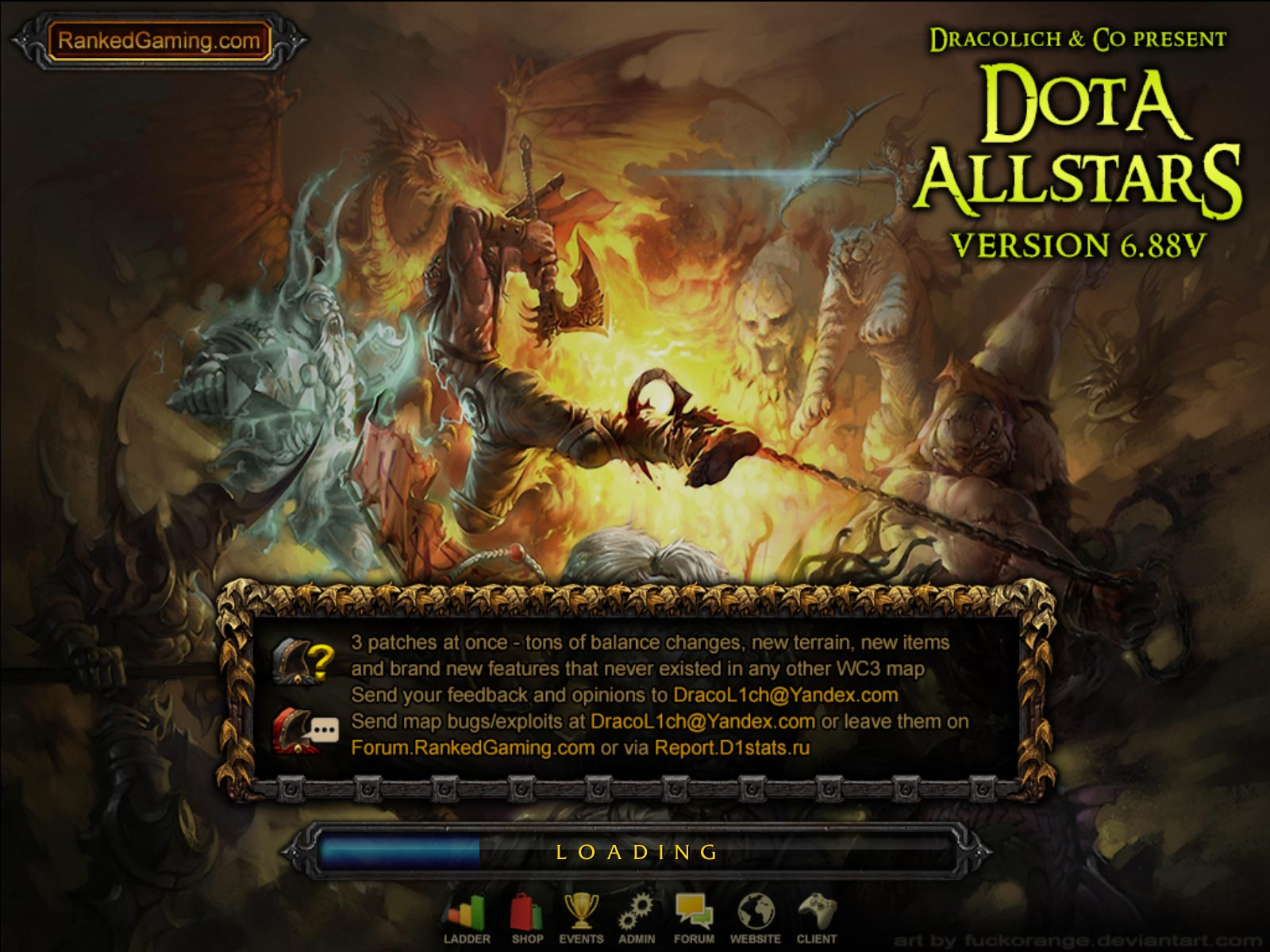 Dota Allstars 6.88v3 RGC Loading Screen