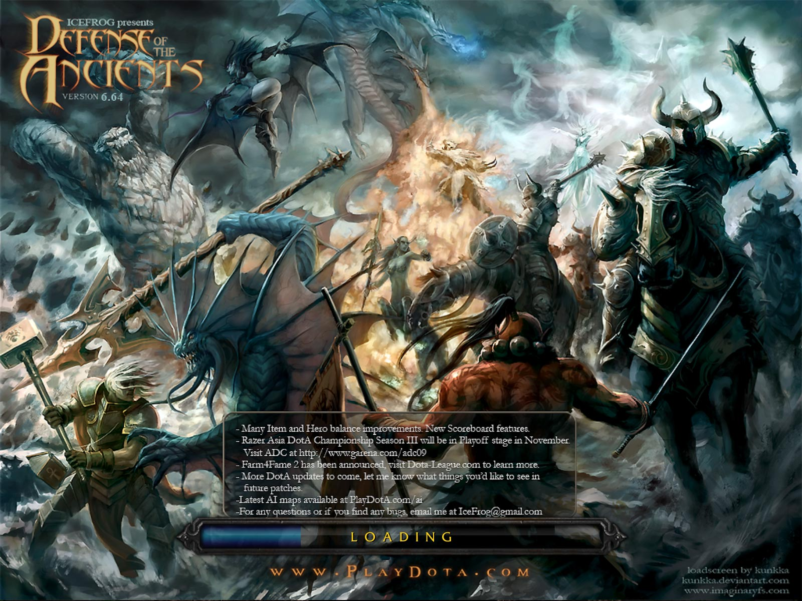 Defense of the Ancients 6.64 Wallpaper Image Wc3 Load