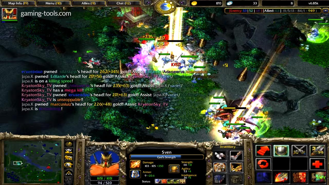 Dota Allstars v6.85k RGC Godlike Fight